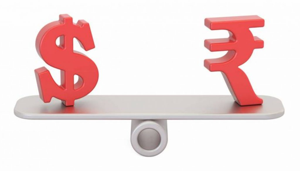 Rupee-and-dollar