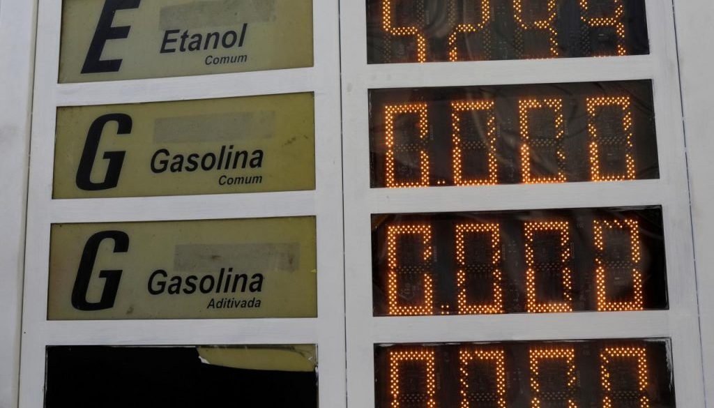 FILE PHOTO: A gas station without gasoline due to truck owners strike to protest against high diesel prices, is pictured in Rio de Janeiro