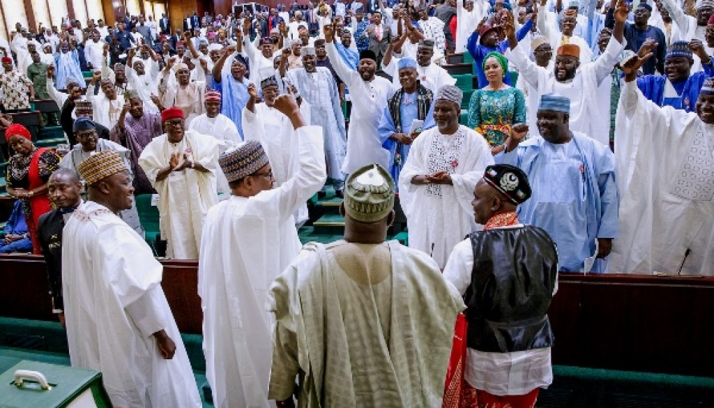 Ovation as Buhari presents 2019 budget at the joint session of NASS 2
