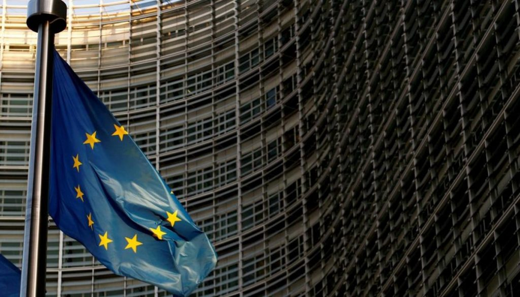 FILE-PHOTO-A-EU-flag-is-seen-outside-the-EU-Commission-headquarters-in-Brussels