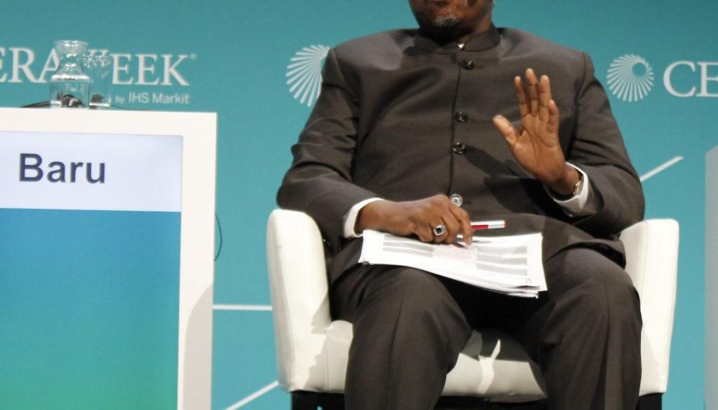 NNPC-Group-Managing-Director-Dr.-Maikanti-Baru-presenting-at-a-session-during-CERAWeek-Conference-in-Houston-Texas.