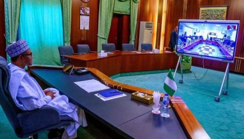 covid-19-buhari-attends-ecowas-heads-of-state-summit-via-teleconference