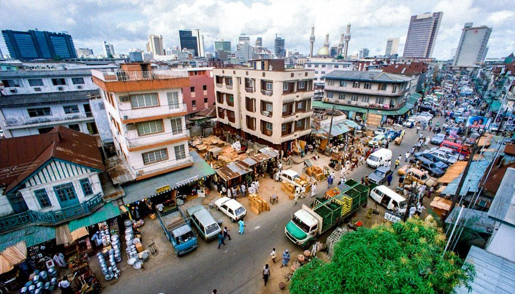 """Jankara"" market, located on Lagos Island and the"