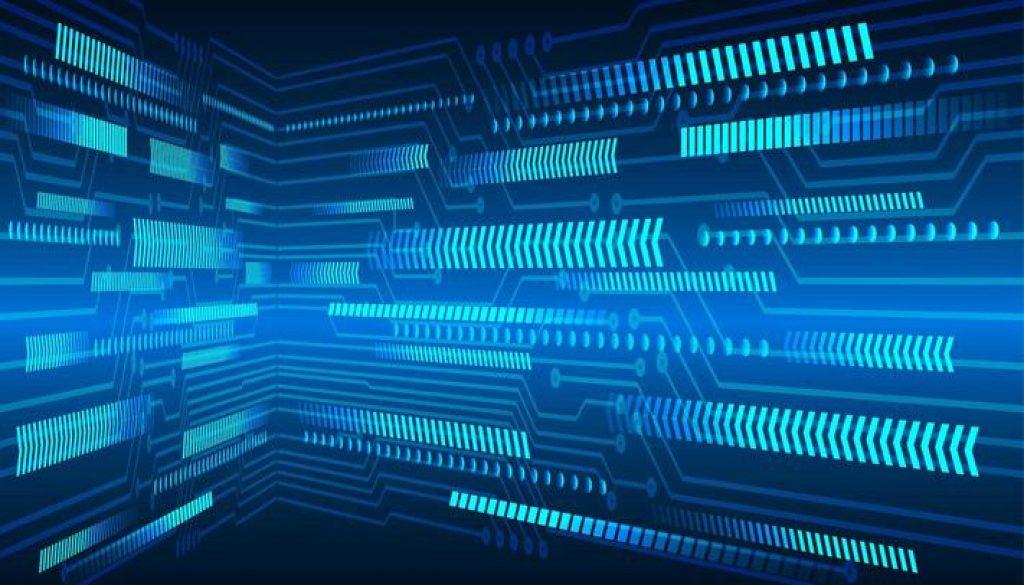 blue-arrow-cyber-circuit-technology-background-vector